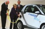 Канцлер Германии поддерживает производство электромобилей