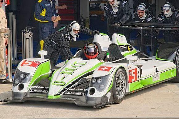 Гибрид Oreca 01 на трассе Le Mans