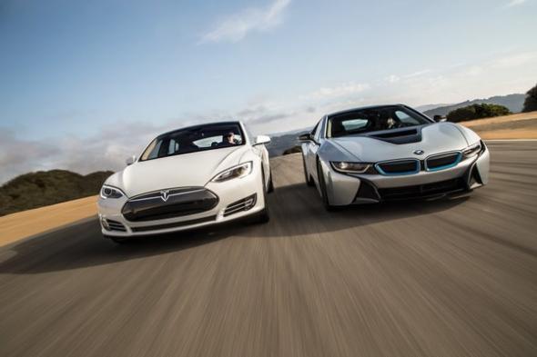 Электромобиль Tesla Motors и BMW
