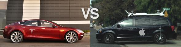 Tesla - конкурент будущих электромобилей Apple