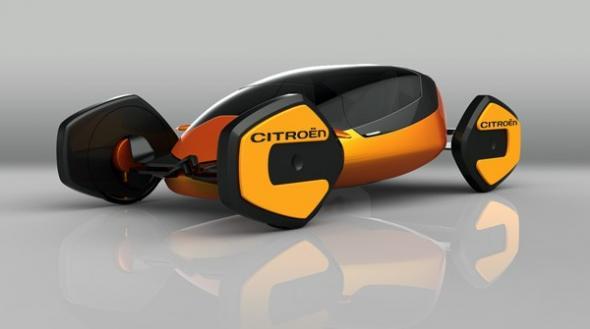 Citroen CCrab: футуристический электромобиль для мегаполисов