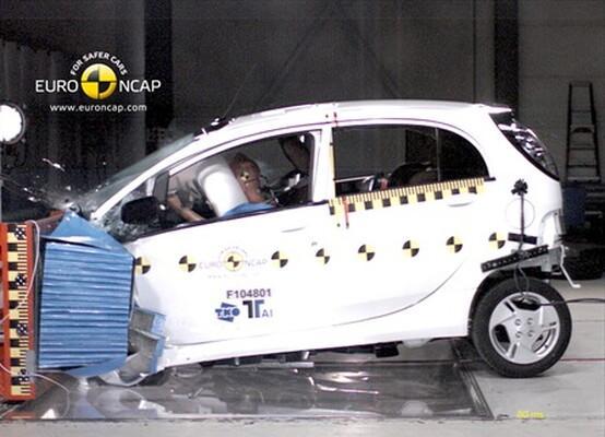 Первый краш-тест Mitsubishi MiEV