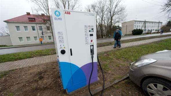 В Эстонии есть общественные зарядные станции