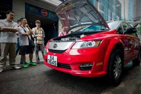 Электротакси в Гонконге