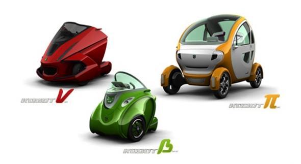Электромобили Kobot Nu и Kobot Beta и двухместная Kobot Pi