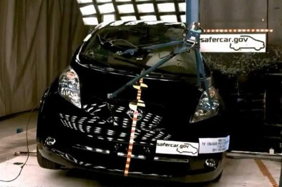 Электромобиль Nissan Leaf самый безопасный