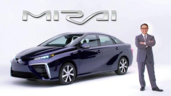 """Akio Toyoda introduces Toyota's """"Mirai"""""""