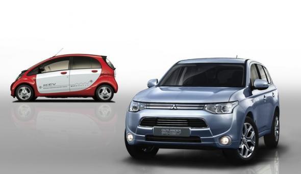 Электромобили 2013 Mitsubishi на автосалоне в Женеве
