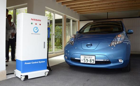 Электромобили Nissan обогревают дома