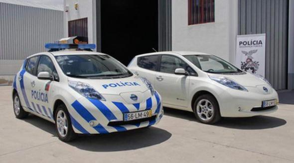 Португальская полиция на электромобилях