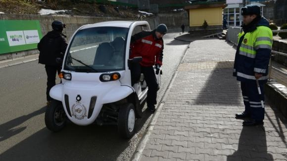 Департамент природы на электромобиле