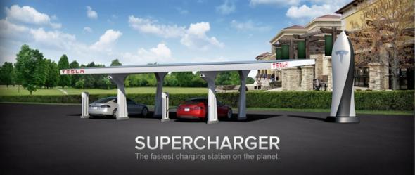 Tesla бесплатные зарядные станции