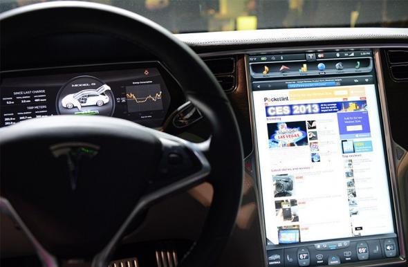 Приложение для планшетов и смартфонов для управления электрокаром Tesla Model S