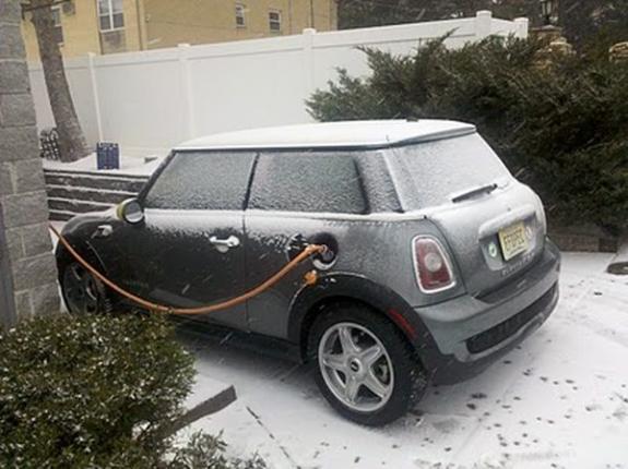 Электромобиль зимой
