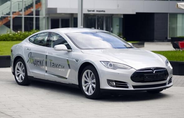 Электромобиль Яндекс Такси Tesla